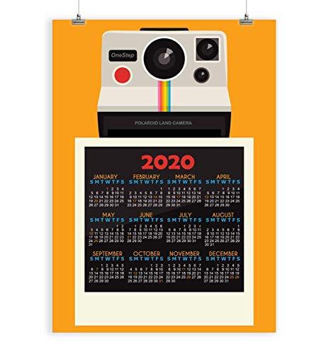 2021 vintage camera wall calendar