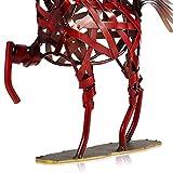 Tooarts Metall Geflochtenes Pferd Deko Skulptur Dekofigur Moderne Skulptur zum Dekorieren - 7