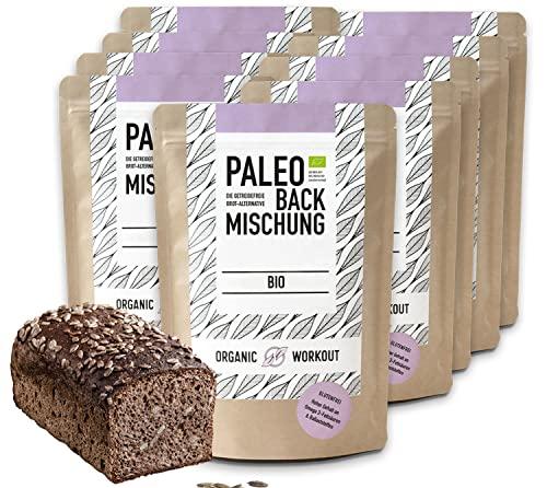 organic Workout Pain Paléo Mix 10 Pack - 100% Bio | Paleo | sans Gluten | Pain protéiné | Haute Fibre | sans Sucre ajouté | sans Grain
