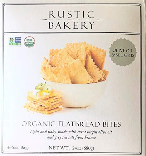 Rustic Bakery Gourmet Handmade Flatbread Olive Oil & Sea Salt 24 oz