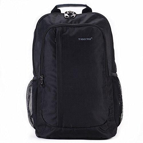 Fubevod Casual viaggio Scuola zaino leggero Daypack dello zaino per adolescenti nero