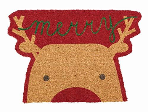 """Mud Pie Fußmatte Weihnachtsmann Reindeer 31"""" x 21"""", Santa 19"""" x 27"""" Rentier"""
