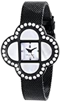 Charles-Hubert, Paris Women's 6840-BM Premium Collection Analog Display Japanese Quartz Black Watch