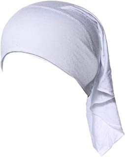 Weixinbuy Women Soft Comfortable Open Back Inner Hijab Caps Head Scarf Headwrap Cover