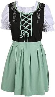 Abetteric Women's Retro Medieval Lace Up Detail Cos Short Sleeve Mini Dress
