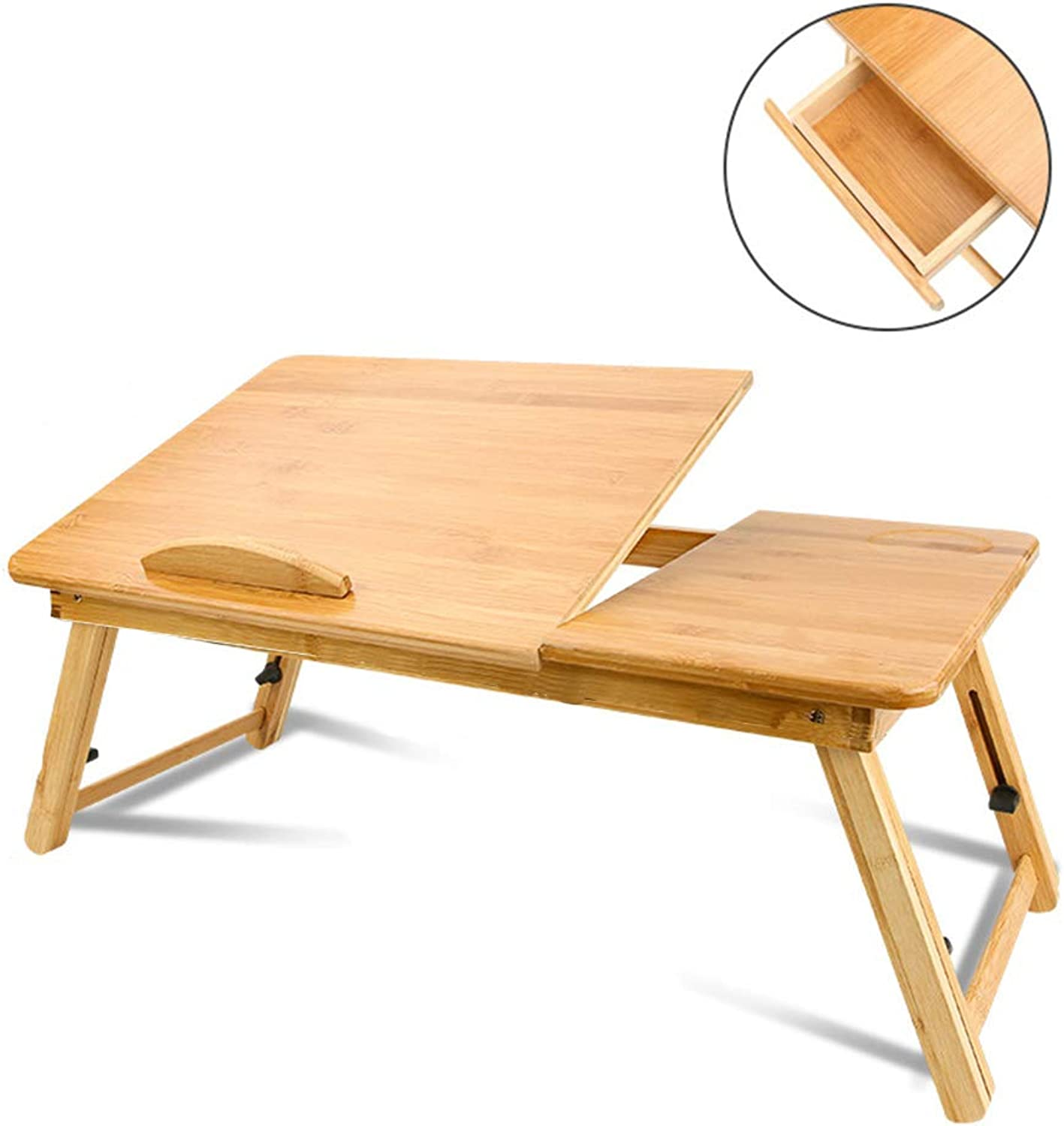CHANG-dq Multi-function Folding Table, Small Table On The Bed Small Medium-sized Large Lift Table Small Table With Drawers Household table (color   A1)