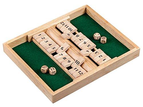 Philos 3282 - Shut The Box, 12er für 1-2 Personen, Würfelspiel, Holz