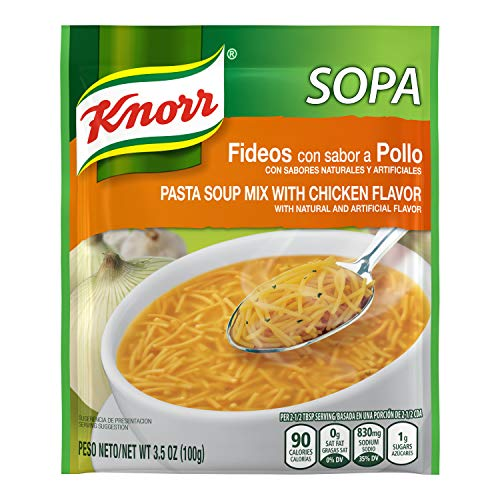 Knorr Sopa Pasta Soup Mix, Chicken 3.5 oz (Pack of 12)