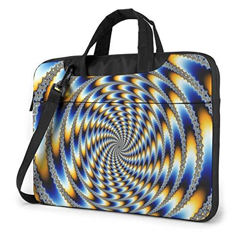 XCNGG Abstract Vortex Spiral Computer Bag Durable Laptop Briefcase Shoulder Messenger Bag for Computer Notebook 13 inch