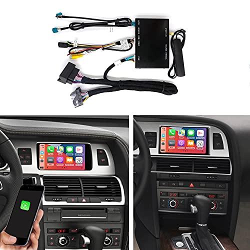 Road Top Kit di retrofit Android Auto Wireless Carplay per Audi A6 S6 (anno 2010-2011), per Audi Q7 (anno 2010-2015) con aggiornamento sistema MMI 3G di fabbrica, supporto Mirrorlink, fotocamera
