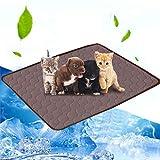 Volwco Selbst Kühlende Hundematte, Kühlmatte Selbstkühlendes Pad Pet Cool Mat Kühlmatte für Haustiere Hunde Katzen Kühlkissen zur Abkühlung in der Sommerhitze für Zuhause unterwegs oder im Auto