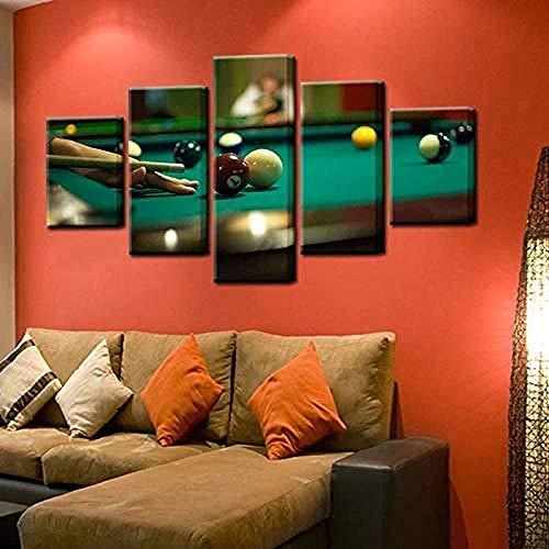 Mashanglaile Hauptdekoration 5 Stücke Billard Poster Drucke Ping-Pong Sport Bilder Malerei Auf Leinwand Und Wandbild Für Wohnzimmer Hauptdekorationen