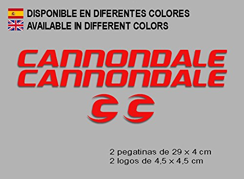 Ecoshirt OJ-SFS7-569G stickers Cannondale F118 Vinyl sticker Decal Decal Decal Sticker MTB Bike Red