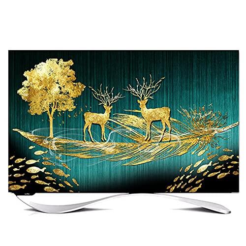 Fuera de TV Exteriores Impermeable y A Prueba de Polvo Cubierta Simple y Moderna para TV Exterior Medio Diseño de Paquetes Protección Completa de La Televisión(Size:49-52in/W118cmxH70cm)