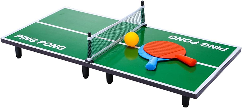 Mesa De Ping-Pong Pequeña Plegable, Mini Mesa De Ping Pong Casera, Juego De Tenis De Mesa para Niños Fácil De Instalar, 60x30x6.5cm