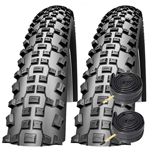 Impac Schwalbe Ridgepac 26' x 2.25 Mountain Bike Tyres with Presta Tubes (Pair)