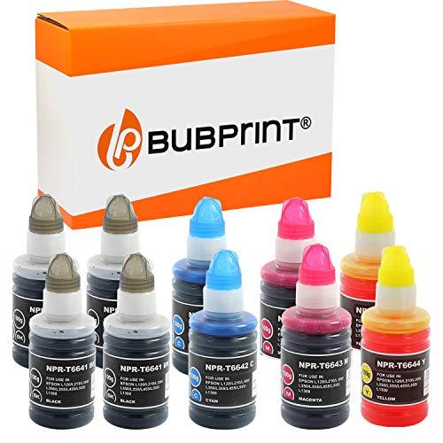 Bubprint Kompatibel Druckerpatronen als Ersatz für Epson T6641-T6644 für EcoTank ET-14000 ET-2500 ET-2550 ET-2600 ET-2650 ET-4500 L355 L555 BK C M Y 10er-Pack