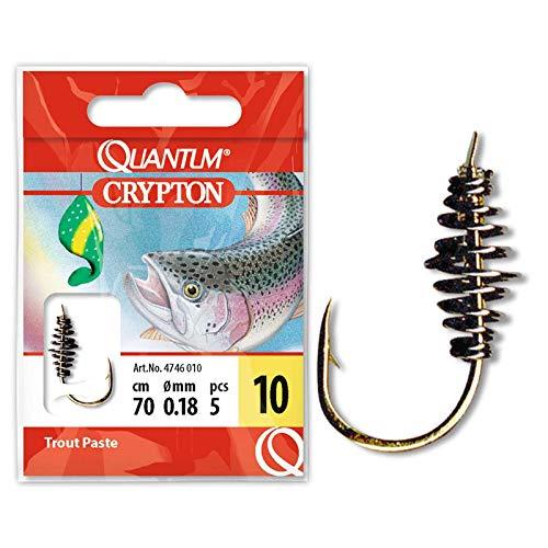 Quantum Unisex– Erwachsene Crypton Trout Paste Vorfachhaken, Gold, 8