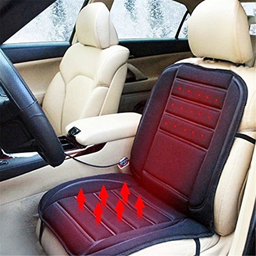 Denshine Car Auto Heated Seat Cushion Hot Cover Auto 12V Heat Heating Warmer Black