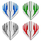 RED DRAGON Hardcore Selection Pack Light Wings Extra Thick Standard Dart Flights - 4 Sets Per Pack (12 Dart Flights in Total)