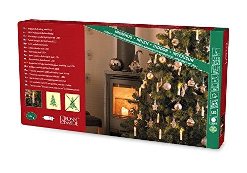 Konstsmide 1009-020 Baumkette mit weiße Topbirnen / für Innen (IP20) / VDE geprüft / 24V Innentrafo / One String / 35 warm weiße Dioden / grünes Kabel