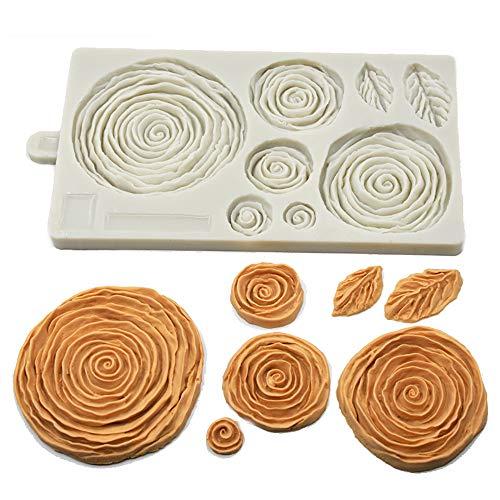 Moldes de silicona con diseño de flores y flores para decoración de pasteles, molde de yeso hecho a mano, molde de caramelos para fondant, chocolate, goma, pasta de resina, manualidades, molde de yeso, utensilios para hornear