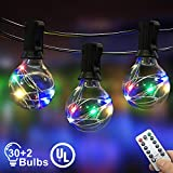 IELECMG Outdoor String Light, 32.8FT 30Pcs Linkable Patio Lights...