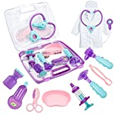 HERSITY Juguetes de Imitacion Maletin Doctora Juguete de Medicos Enfermera Regalos para Niñas Niños (púrpura)