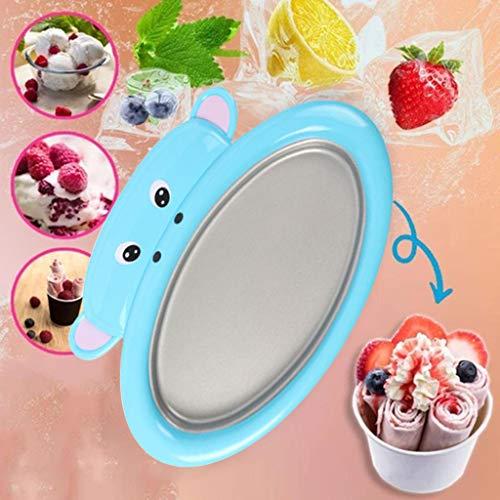 Instant Ice Cream Maker Joghurt Gefrorene Pfanne Ice Roll Time Haushalt Teller, hausgemachte Haushalt Kinder gebratene Eismaschine Mini
