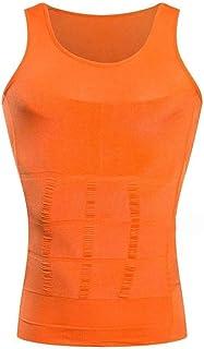 الخصر المدرب الرجال مشد الجسم البطن 9 ألوان البطن حزام الخصر قميص ملابس داخلية قميص حزام الخصر قمصان أنيقة (اللون: برتقال...