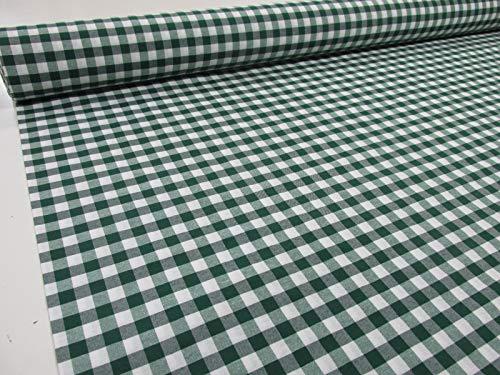 Confección Saymi Metraje 1,40 MTS Tejido Cuadros Ref. Vichy Cuba Color Verde, con Ancho 2,80 MTS.