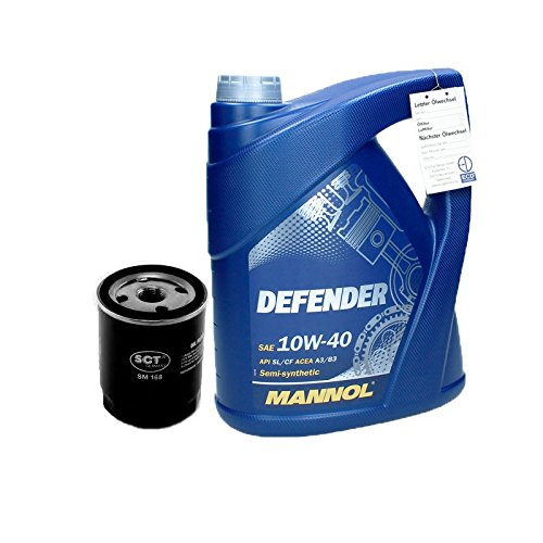 Motoröl 5L 10W-40 Defender + Ölfilter