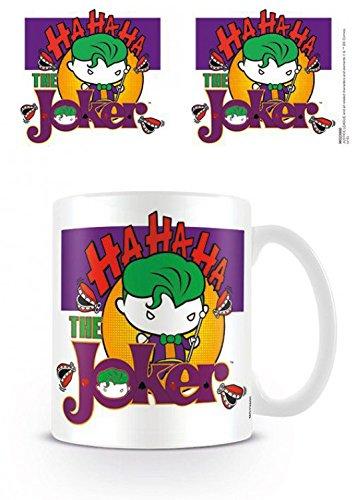 1art1 Liga De La Justicia, The Joker Chibi Taza Foto (9x8 cm) Y 1x Taza Sorpresa