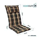 Homeoutfit24 Sun Garden 4-Stück Gartenstuhl-Auflage - 2