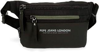 Pepe Jeans Sail Riñonera Negro 23x15x2,5 cms Poliéster y PU