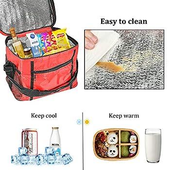 Sac Isotherme,Sacs De Pique Nique,sac isotherme sac de pique-nique,Utilisé pour pique-nique, voyage, camping, barbecue, plage, bureau. (rouge)
