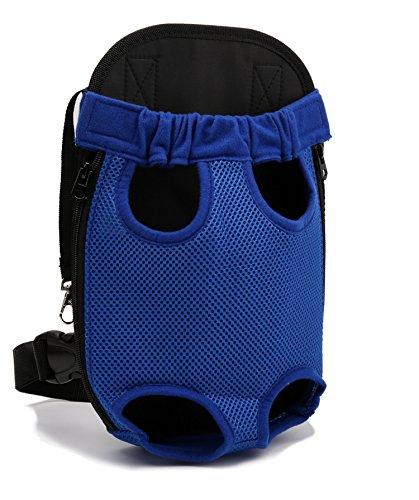 Tineer Hundebeutel Rucksack Breathable Outdoor Reise Hund Rucksack Canvas Beine aus Vordertasche Schultertasche Pet Bags Haustiere Durable Schultertasche (XL; Chest(43cm-63cm), Blue)