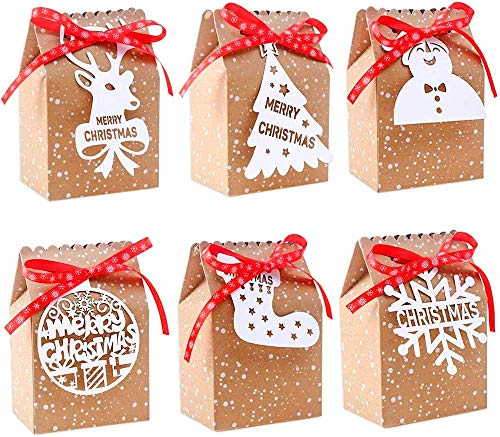LOKIPA 24 Pieces Christmas Paper Candy Gift Boxes...
