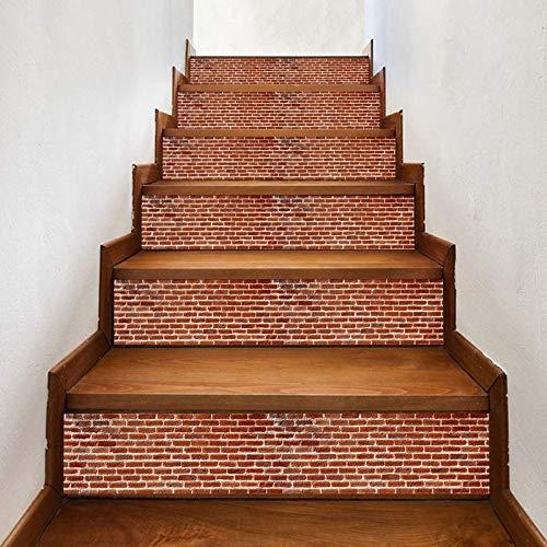 Pegatinas de escalera creativas para azulejos de escalera 6 piezas de pegatinas de pared personalizadas para el hogar diy pegatinas de pared decorativas para escaleras de ladrillo