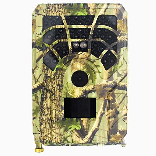 MZBZYU Cámara de Caza HD Impermeable de Visión Nocturna con Tarjeta SD de 32GB IP56 Impermeable para la Naturaleza al Aire Libre Garden Home Security Surveillance Wildlife Watching