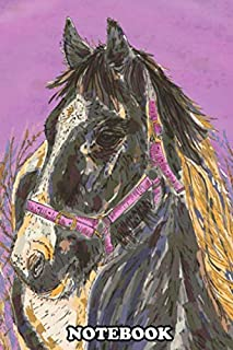 Notebook: A Stunning Black And White Horse With A Shining Golden , Journal for Writing, College Ruled Size 6