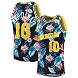 XFKL T-Shirts Hommes Magiques Orlando # 1 T-Shirts de Basketball rétro Respirant Gilet d'impression,C,L