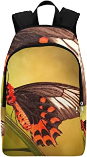 YUMOING Butterflies Bug Nature Wildlife Animal Kingdom Casual Daypack Travel Bag College School Backpack For Mens And Women