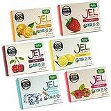 Bakol Jel Dessert - All Natural Vegan Dessert Mix - Kosher - Halal - No Artificial Sweeteners Flavors or Colors  Set Of All 6 Flavors - (Orange, Strawberry, Raspberry, Lemon, Cherry, Unflavored)