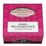 Elegant Lashes Individual Flare Short Brown Eyelashes (Pro Dozen Pack - 12 Trays)