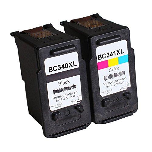 【Delightcolor】再生インク Canon(キャノン)用BC-340 XL+BC-341 XL(ブラック+カラー)2個セット(BC340+BC341 大容量)残量表示付【対応機種】PIXUS(TS5130・TS5130S ・ MG4230・MG4130・MG3630・MG3530・MG3230・MG3130・MG2130・MX523・MX513)
