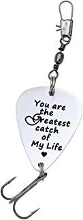Melix Home You are The Greatest Catch of My Life Fishing Lures Gifts for Him
