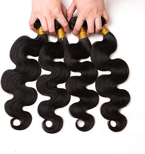 Brazilian Hair Echt Human Hair Natural Virgin Haare Extension 4 Bundles Weave Unprocessed Natural Color 10 12 14 16 Inches