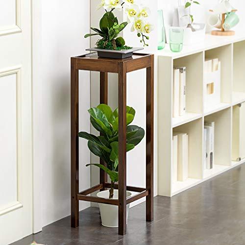 Support de fleurs Bamboo Landing Multi-layer Rack de succulentes intérieur Rack de pot de balcon Étagère de salon Deux couleurs Hauteur 66cm / 80cm (Couleur : B, taille : 31 * 31 * 80cm)