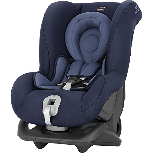 Britax Römer Reboarder Kindersitz 0 - 4 Jahre | 0 - 18 kg | FIRST CLASS PLUS Autositz Gruppe 0+/1 | Moonlight Blue